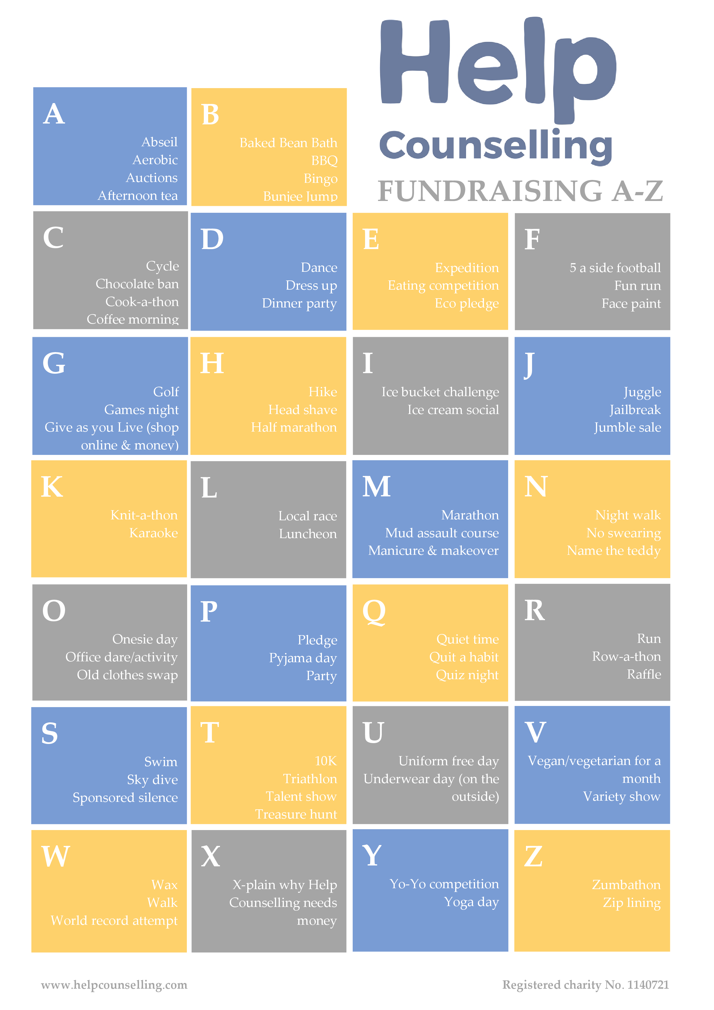 a-z fundraising guide - help counselling